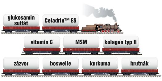 Celadrin locomotive slozeni